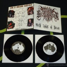 Discos de vinilo: NUNSLAUGHTER – METAL ASSAULT ON ADELAIDE - DOBLE 7''. Lote 50572532