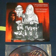 Discos de vinilo: NUNSLAUGHTER / NOCTURNAL - SPLIT - PICTURE 7''. Lote 50572627