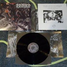 Discos de vinilo: BANISHED FROM INFERNO- MINOTAUR - LP [BLACK MASS RECORDS, 2011] DEATH METAL. Lote 50572868