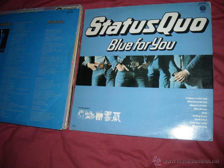 Discos de vinilo: STATUS QUO LP BLUE FOR YOU 1976 CARPETA DOBLE VER FOTO - Foto 3 - 50572992