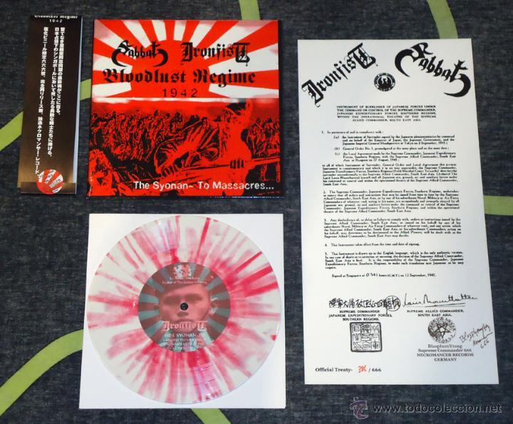 SABBAT / IRONFIST – BLOODLUST REGIME 1942 - THE SYONAN - TO MASSACRE [#386/666] (Música - Discos de Vinilo - EPs - Heavy - Metal)