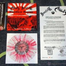 Discos de vinil: SABBAT / IRONFIST – BLOODLUST REGIME 1942 - THE SYONAN - TO MASSACRE [#386/666]. Lote 50574863