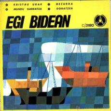 Discos de vinilo: EP CANCIONES VASCAS EGI BIDEAN. GOTZON AULESTIA. BELÉN IBARLOZA, AMAYA AULESTIA, JAVIER SOLABARRIETA. Lote 50584699