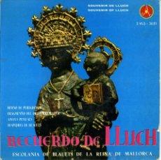 Discos de vinilo: EP RECUERDO DE LLUCH. ESCOLANÍA BLAUETS DE LA REINA DE MALLORCA. JAIME PALOU. Lote 50584897