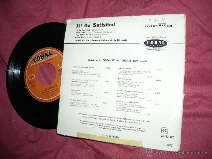 Discos de vinilo: JACKIE WILSON EP ILL BE SATISFIED 196O SPAIN VER FOTO - Foto 2 - 50586078