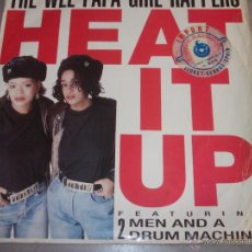 Discos de vinilo: WEE PAPA GIRL RAPPERS FEAT TWO MEN & A DRUM MACHINE - HEAT IT UP - MAXI - IB. Lote 50596751