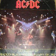 Discos de vinilo: AC DC / LET'S GET IT UP / BACK IN BLACK 1982, RARO DIRECTO !! COLLECTORS !! ORG EDIT UK, EXC. Lote 50599266