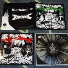 Discos de vinilo: WARHAMMER / COFFINS - 10'' [GREY SPLATTER VINYL · LIM. 150]. Lote 50608021