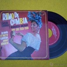 Discos de vinilo: CARLOS CORRIALE MARQUESA ANCHART TICO-TICO AMOR PLAYERO RITMO DE CUMBIA SPAIN CUMBIA 45 Ç (VG++/EX-). Lote 50608133