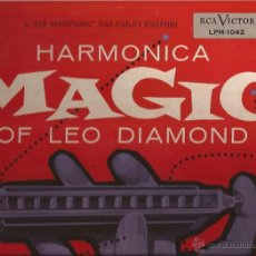 Discos de vinilo: LP-HARMONICA MAGIC OF LEO DIAMOND RCA 1042 USA 1955 EASY LISTENING. Lote 50609140