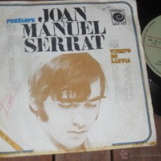 Discos de vinilo: JOAN MANUEL SERRAT SINGLE. PENELOPE. MADE IN SPAIN. 1969. Lote 50610543