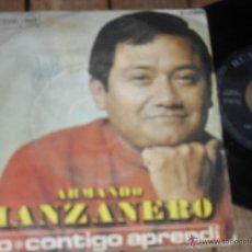 Discos de vinilo: ARMANDO MANZANERO. SINGLE. NO. CONTIGO APRENDI. MADE IN SPAIN. 1968. Lote 50611554