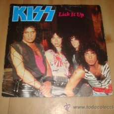 Discos de vinilo: KISS - LICK IT UP - NOT FOR THE INNOCENT 1983 !! RARA 1ª EDIC ORG UK, EXC. Lote 50612200