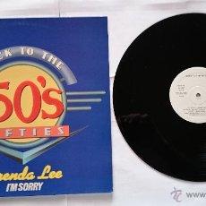 Discos de vinilo: BRENDA LEE-I'M SORRY+BILL HALEY-ROCK AROUND THE CLOCK+CRICKETS-GREAT BALLS OF FIRE (MAXI PROMO 92) . Lote 50615141