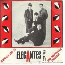 Disques de vinyle: LOS ELEGANTES SG ZAFIRO 1984 PROMO CERCA DE TI/ NO IMPORTA DONDE MOD SOUL POP . Lote 50623574