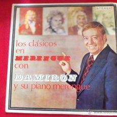 Discos de vinilo: LOS CLASICOS EN MERENGUE CON DAMIRON Y SU PIANO MERENGUE. Lote 50623647