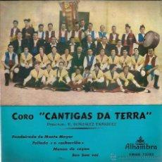 Discos de vinilo: EP GALICIA FOLK : CANTIGAS DA TERRA : PANDEIRADA DE MONTE MAYOR + 3 . Lote 50626215