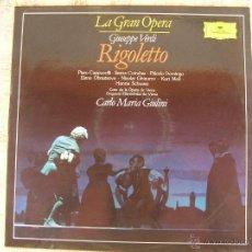 Discos de vinilo: GIUSEPPE VERDI - RIGOLETTO - 1989. Lote 50631282