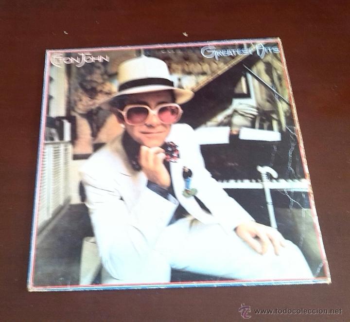 ELTON JOHN - GREATEST HITS - LP - 1986. (Música - Discos - LP Vinilo - Pop - Rock Internacional de los 90 a la actualidad)