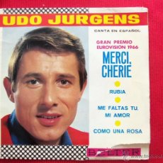 Disques de vinyle: UDO JURGENS - GRAN PREMIO EUROVISION 1966. Lote 50637303