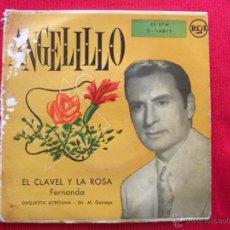 Discos de vinilo: ANGELILLO - EL CLAVEL Y LA ROSA FERNANDA. Lote 50637770