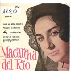 Discos de vinilo: MACARENA DEL RIO / COMO ME LLAMO ROSARIO / AY, CANTAORA + 2 (EP 1961). Lote 50639964