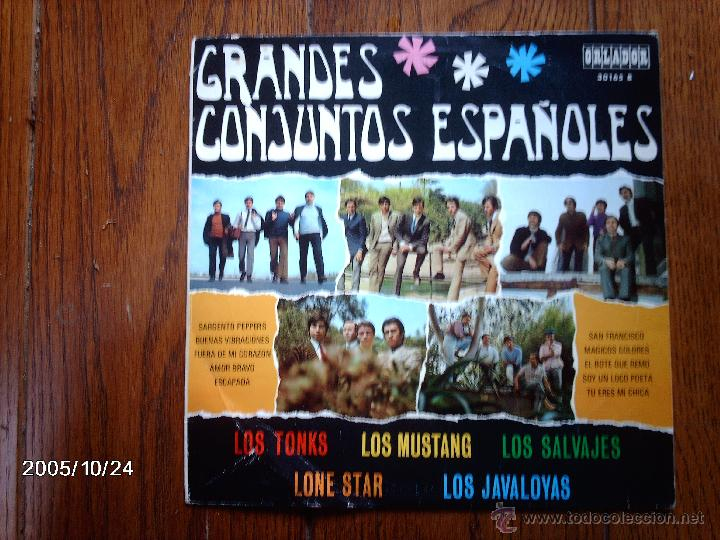 GRANDES CONJUNTOS ESPAÑOLES - LOS TONKS, LOS MUSTANG, LOS SALVAJES, LONE STAR, LOS JAVALOYAS (Música - Discos - LP Vinilo - Grupos Españoles 50 y 60)