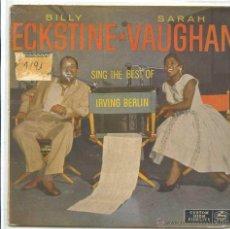 Discos de vinilo: BILLY ECKSTINE Y SARAH VAUGHAN / I'VE GOT MY LOVE / CHEEK TO CHEEH + 2 (EP 1959). Lote 50649456