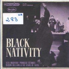 Discos de vinilo: BLACK NATIVITY / ALEX BRADFORD - MARION WILLIAMS & THE STARS OF FAITH (EP 1963). Lote 50649500