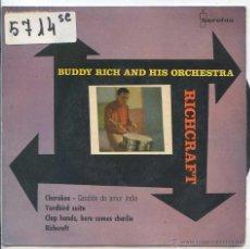 Discos de vinilo: BUDDY RICK / CHEROKEE / YARBIRD SUITE + 2 (EP 1960). Lote 50649554