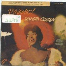 Discos de vinilo: DAKOTA STATON / ANYTHING GOES / WHEN SUNNY GETS BLUE + 2 (EP 1959). Lote 50649694