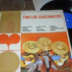 Discos de vinilo: TRIO LOS GUACAMAYOS. LP. LOS GUACAMAYOS. BESAME MORENITA. . Lote 50653157