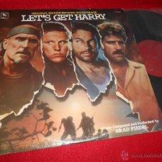 Discos de vinilo: LET'S GET HARRY BRAD FIEDEL BSO OST LP 1986 VARESE SARABANDE EDICION AMERICANA USA. Lote 50655529