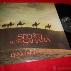 Discos de vinilo: SECRET OF THE SAHARA ENNIO MORRICONE BSO OST LP 1988 RCA EDICION ESPAÑOLA SPAIN. Lote 50655587