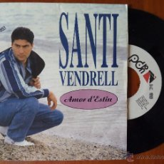 Discos de vinilo: SANTI VENDRELL, AMOR D'ESTIU (PDI 1993) SINGLE PROMOCIONAL. Lote 50660853