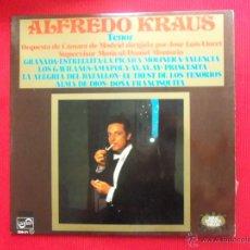 Discos de vinilo: ALFREDO KRAUS - ORQUESTA DE CÁMARA DE MADRID DIRIGIDA POR JOSÉ LUIS LLORET. Lote 50684970