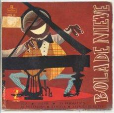 Discos de vinilo: BOLA DE NIEVE / ECO / BELEN / EL BOTELLERO + 3 (EP 1959). Lote 93319939