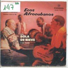 Discos de vinilo: BOLA DE NIEVE / MONASTERIO DE SANTA CLARA / EL MANISERO + 2 (EP 1960). Lote 50686234