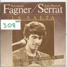 Discos de vinilo: RAIMUNDO FAGNER Y CAMARON DE LA ISLA / LA LEYENDA DEL TIEMPO + 1 (SINGLE PROMO 1981). Lote 50687520