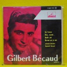 Discos de vinilo: GILBERT BECAUD - TOI, L'OISEAU + 3 - EP. Lote 50691452