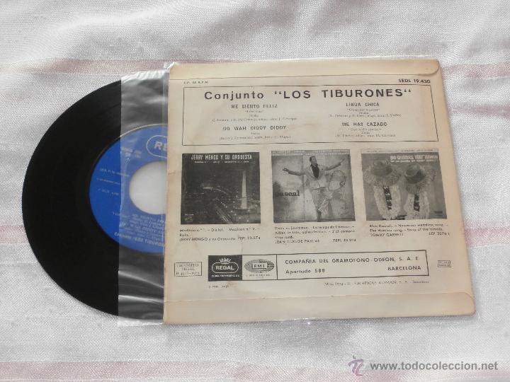 Discos de vinilo: LOS TIBURONES 7´EP ME SIENTO FELIZ + 3 TEMAS (1965) BUENA CONDICION **MUY RARO** - Foto 2 - 50700020