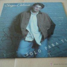 Discos de vinilo: SERGIO DALMA LP SOLO PARA TI HORUS ORIGINAL ESPAÑA 1993 INCLUYE LETRAS ¡¡¡FIRMADO!!!. Lote 50710168