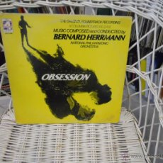 Discos de vinilo: BERNARD HERRMANN– OBSESSION (THE ORIGINAL SOUNDTRACK RECORDING.LP EDICION USA 1976. Lote 50714222