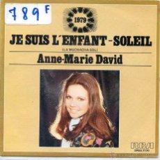 Discos de vinilo: ANNE MARIE DAVID / LA MUCHACHA -SOL (EUROVISION 1979) + 1 (SINGLE PROMO 1979). Lote 50717218