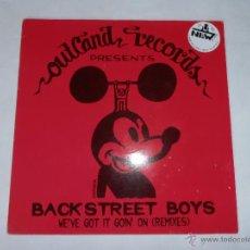 Discos de vinilo: BACK STREET BOYS - WE'VE GOT IT GOIN' ON (REMIXES).MAXI SIGLE.. Lote 50725098
