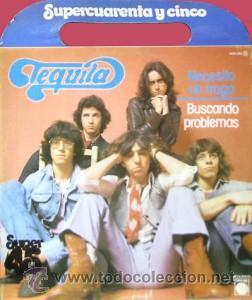TEQUILA - NECESITO UN TRAGO / BUSCANDO PROBLEMAS -(ESPAÑA-NOVOLA-1978) PORTADA CON ASA - MAXI LP (Música - Discos de Vinilo - Maxi Singles - Pop - Rock Extranjero de los 70)