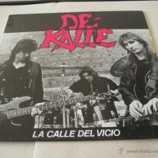 Discos de vinilo: DE KALLE LP LA CALLE DEL VICIO JUSTINE ORIGINAL ESPAÑA 1990 INCLUYE EL CÓMIC. Lote 50728986