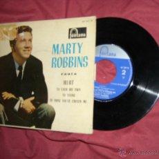 Discos de vinilo: MARTY ROBBINS EP SPAIN 1961 FONTANA – CANTA HURT – VER FOTO ADICIONAL. Lote 50731940