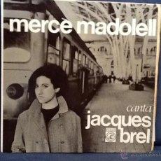 Discos de vinilo: MERCÈ MADOLELL - CANTA JACQUES BREL (CONCÈNTRIC, 1966) EP - SÓLO PORTADA. Lote 50732153