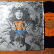 Discos de vinilo: VINILO PAUL SIMON 1972 MOTHER AND CHILD REUNION + PARANOIA BLUES. Lote 50733704